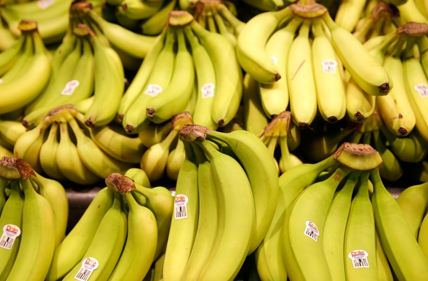 Dole brand bananas are seen at the Safeway store in Wheaton Maryland